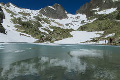 Lake in Chamonix Royalty Free Stock Photography