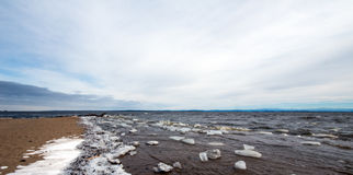 Lake Champlain eary spring Stock Images