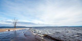 Lake Champlain eary spring Stock Photos