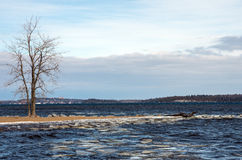 Lake Champlain eary spring Stock Image