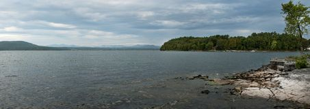 Lake Champlain, Eastern shore Stock Images