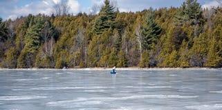 Lake Champlain Frozen Stock Photo