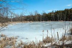 Lake Champlain Frozen Stock Photography