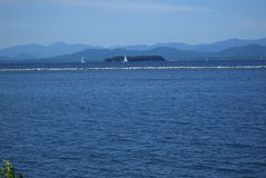 Lake Champlain of Vermont - Blue Water Stock Photo