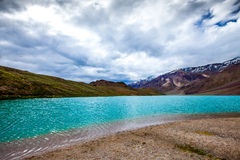 Lake Chandra Taal, Spiti Valley Stock Photo