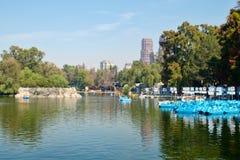 Lake at Chapultepec Park in Mexico City Stock Photos