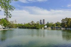 The lake Chapultepec in the zoo Royalty Free Stock Photos