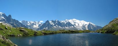 Lake of Cheresys. In Chamonix, France Royalty Free Stock Images