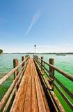 Lake Chiemsee. Mooring a cruise ship on the Bavarian Lake Chiemsee, Germany Stock Photography