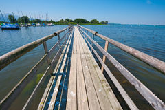 Lake Chiemsee. Tarpaulin Covers for Boats, the Lake Chiemsee in Bavaria Stock Photography
