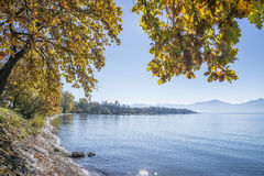 Lake Chiemsee in autumn Royalty Free Stock Photos