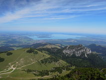 Lake Chiemsee from the Kampenwand Massive Royalty Free Stock Image