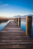 Lake Chiemsee in morning light Stock Photos