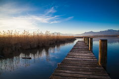 Lake Chiemsee in morning light Royalty Free Stock Photos