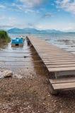 Lake Chiemsee in summer. Bavaria, Germany. Lake Chiemsee with Alps in summer. Bavaria, Germany Royalty Free Stock Image