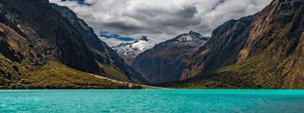 Lake chinancocha peru stock photography