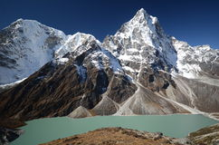 Lake Cholatse in the Everest trek Royalty Free Stock Photos