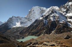 Lake Cholatse in the Himalayas Stock Images
