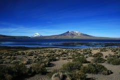 The lake chungara Royalty Free Stock Images