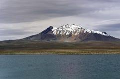 Lake Chungara . Chile. Lake Chungara in Lauca National Park Royalty Free Stock Photo
