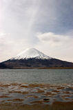 Lake Chungara . Chile. Lake Chungara in Lauca National Park Stock Image