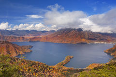 Lake Chuzenji, Japan in autumn from above Stock Image