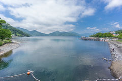 Lake Chuzenji near Nikko falls, Japan Stock Photo