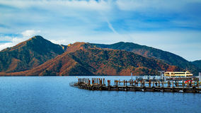 Lake Chuzenji at Nikko National Park in Japan Royalty Free Stock Photography