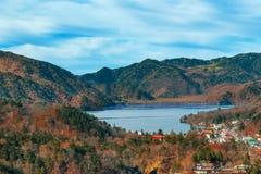 Lake Chuzenji at Nikko National Park in Japan Stock Photo