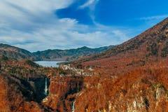 Lake Chuzenji at Nikko National Park in Japan Stock Photos