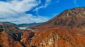 Lake Chuzenji at Nikko National Park in Toca*an. Lake Chuzenji with Kegon Waterfall at Nikko National Park in Tochigi Prefecture in Japan Royalty Free Stock Photos