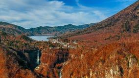Lake Chuzenji at Nikko National Park in Toca*an. Lake Chuzenji with Kegon Waterfall at Nikko National Park in Tochigi Prefecture in Japan Royalty Free Stock Image