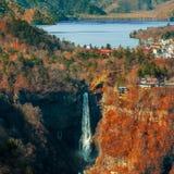 Lake Chuzenji at Nikko National Park in Toca*an. Lake Chuzenji with Kegon Waterfall at Nikko National Park in Tochigi Prefecture in Japan Stock Image