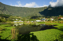 The lake at Cilaos on Reunion island Stock Images