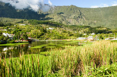The lake at Cilaos on Reunion island Royalty Free Stock Photography