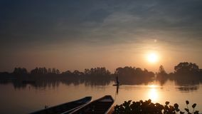 Lake cipondoh in Tangerang. The sunrise in Cipondoh lake Tangerang Indonesia stock photography