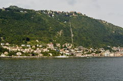The lake and the city of Como Royalty Free Stock Images
