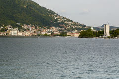 The lake and the city of Como Stock Images