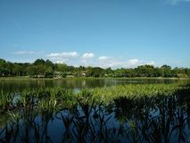 Lake in the city of Kuala Lumpur Stock Photo