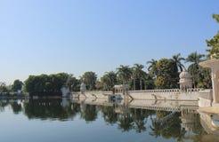Lake cityscape Udaipur India. Dudh Talai lake cityscape Udaipur India Stock Images