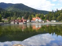 Lake Ciucas in Tusnad, Harghita, Romania. Stock Photos