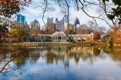 Lake Clara Meer and Midtown Atlanta, USA Stock Photo