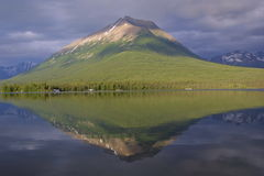 Lake Clark. Mount Tanalian and reflection in Lake Clark National Park stock photo