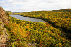 Lake Of The Clouds Autumn Color Stock Photography