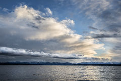 Lake with clouds Stock Photos