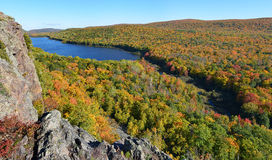 Lake of the clouds in fall color Stock Photos