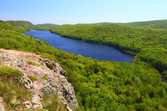 Lake of the Clouds - Michigan. Amazing view of Lake of the Clouds at Porcupine Mountains State Park in northern Michigan Stock Images
