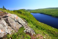 Lake of the Clouds - Michigan. Lake of the Clouds on a beautiful day at Porcupine Mountains State Park in northern Michigan stock images
