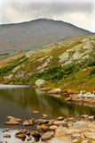 Lake of the Clouds and Mt. Washington in New Hampshire. Lake of the Clouds and Mt. Washington in the White Mountains of New Hampshire. The summit is another Royalty Free Stock Image