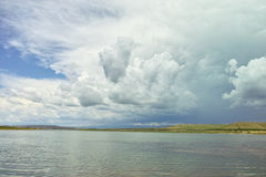 Lake with clouds Royalty Free Stock Photography